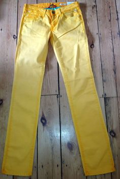 Ladies Replay Jeans 27 x 32 Jushmann Womens Gold Straight Leg Authentic