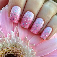Pretty In Pink and lots of glitz.  #naildesign #nailart #nails #pinknails #summernails #nailideas #prettyinpink #pinknails #pinknailpolish #manicure