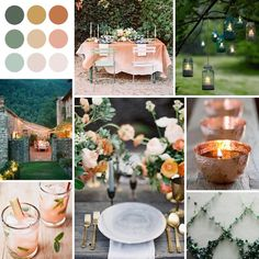 Wedding colors blush sage 60 Ideas for 2019 Orange Wedding Colors, Burnt Orange Weddings, Sage Green Wedding, Dusty Rose Wedding, Summer Wedding Colors, Copper Colour Scheme, Orange Color Schemes, Wedding Color Pallet, Wedding Color Schemes