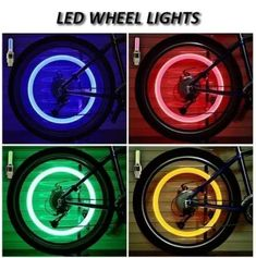 US$ 43.98 - Professional Led Waterproof Wheel Lamp(2 PCS) - m.57diy.com Bicycle Safety, Bicycle Wheel, Bicycle Tires, Rim Light, Light Led, Light Bulb, Lamp Cover, Bicycle Lights, Bicycle Accessories