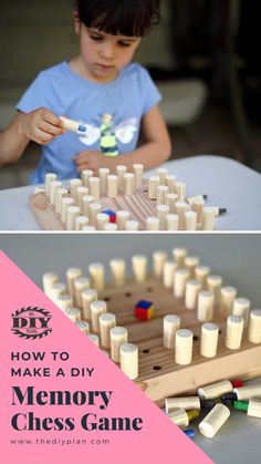 Playing memory games are full of fun for people of all age groups. Not only these games provide you with a brain gym, but they also help you to socialize. One of the games I thought would be fun to play with kids is a memory chess game. So I made my own DIY memory chess game board with 40 chess pieces. Why shouldn't you try this!!  #diy #freeplans #projects #homedecor #interior #furniture #woodproject #game #doityourself #homeimprovement #kids #chess #idea Diy Furniture Plans, Diy Furniture Projects, Woodworking Projects Diy, Diy Projects, Brain Gym, Memory Games, Chess Pieces, Outdoor Projects, Decoration