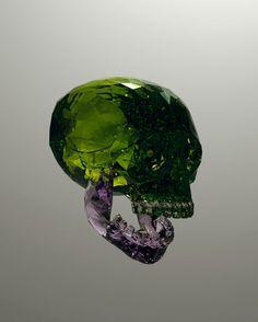 Julien Brunet, gemstone skull