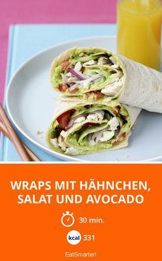 Wraps mit Hähnchen, Salat und Avocado - smarter - Kalorien: 331 Kcal - Zeit: 30 Min.   eatsmarter.de
