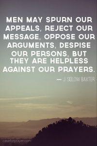 The Power of Prayer.  J. Sidlow Baxter