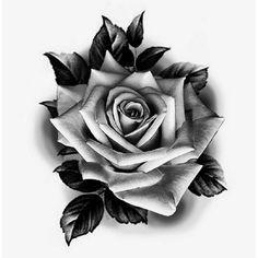 Skull Rose Tattoos, Rose Flower Tattoos, Rose Tattoos For Men, Flower Tattoo Designs, Body Art Tattoos, Hand Tattoos, Sleeve Tattoos, Rose Drawing Tattoo, Realistic Rose Tattoo