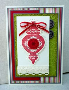 """White House Stamping **** SU """"Ornament Keepsakes"""" & """"Holiday Ornaments"""" Framelits Dies, 2012 Holiday Mini."""