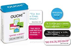 Bandaids with quotes about pressing on through the pain