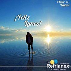 ¡FELIZ LUNES! Hoy es una NUEVA OPORTUNIDAD para plantearse objetivos. #Refrianex #FelizLunes #SalardeUyuni #DosCielos #SaludyBienestarBagó