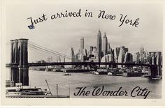 Just arrived in New York postcard 1944