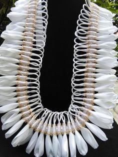 Your place to buy and sell all things handmade Hawaiian Leis, Ribbon Lei, Flower Making, Thesis, Red And White, Graduation, Satin, Craft Ideas, How To Make