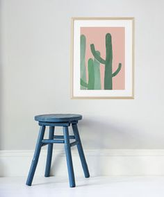 Cacti In Pink A3 Art Print