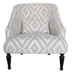 Diamond pattern armchair