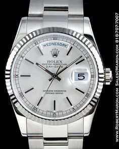 White Gold Presidential Rolex. Simple and classy