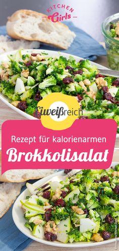 Brokkolisalat Rezept - kalorienarm und proteinreich Broccoli Salad, Mozzarella, Cobb Salad, Feta, Mayonnaise, Gnocchi, Tapas, Potato Salad, Low Carb