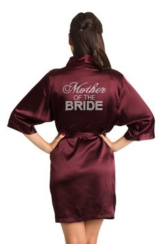 9b038a76a98 Wrap your mom in luxury with rhinestone  motherofthebride satin robe Bridal  Party Robes