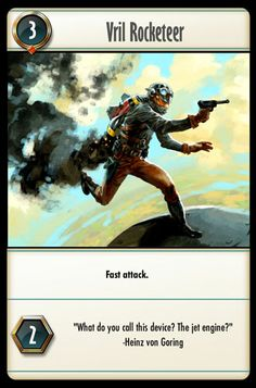 Vril Rocketeer Jet Engine, The Funny, Card Games, Battle, Magic, Gallery, Cards, Movie Posters, Website