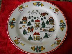 "1 (one) ""The Joy of Christmas"" Jamestown China Dinner Plate   eBay"