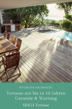Die stylische Holzterrasse mit Langlebigkeitsgarantie. Deck, Patio, Outdoor Decor, Home Decor, Sustainability, Lawn And Garden, Decoration Home, Room Decor, Front Porches