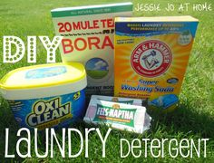 The recipe to make your DIY Laundry Detergent AND save you money in the long run!