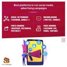 Simple Brands can help in running helpful advertising campaigns on various social media channels to meet your business objectives. Send us your queries at info@simplebrandmedia.com & we would be happy to offer you our services. Social Media Channels, Social Networks, Advertising Campaign, Digital Marketing, Meet, Running, Business, Simple, Happy