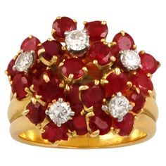 VAN CLEEF & ARPELS Diamond & Ruby Ring . USA ca 1970s