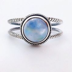 Image of Moonstone Double Twist Ring [BL08]