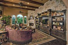 Custom interior furniture design for Texas Hill Country custom home