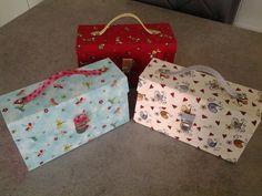 Voilà mes 3 valisettes que j ai réalisé cette semaine.fatima