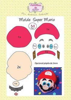 Olá meninas, tudo bem? Hoje trago para vocês moldes do Mario Bros.   São um molde de bolsa e um molde de chaveiro do Super Mario!   Dá pra...