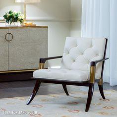 Baker Furniture Thomas Pheasant Athens Tufted Lounge Chair