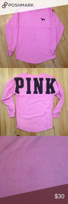 Vs PINK Crewneck I believe this was self dyed. Small flaw as shown. No trades. PINK Victoria's Secret Sweaters Crew & Scoop Necks