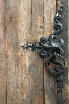 Wrought iron latch for the garden gate