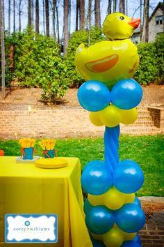 #Ducky Duck Balloon Column