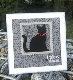 Monsterparty, Katze Monster Party, Halloween, Blog, Frame, Decor, Paper, Cats, Picture Frame, Decoration