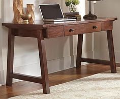 Wassner Home Office Desk — Compare Furniture Prices Home Office Space, Home Office Desks, Office Decor, Office Ideas, Furniture Deals, Furniture Outlet, Buy Desk, Condo Decorating, Rustic Shelves
