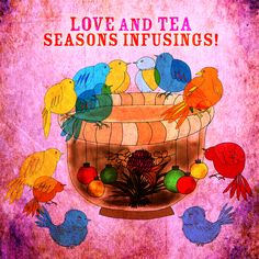 Twelve love filled birds, sipping a festive double happiness flowering tea on TEAlightful 12-12-12. Love and tea makes the festive season warm and bright. What my #Tea says to me December 12th, Cheers and good night.
