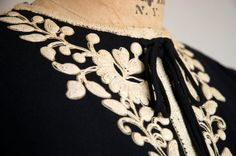 ☆New Listing☆ Vintage 1930s Rayon Crepe Embroidered Dress! // by TrunkofDresses
