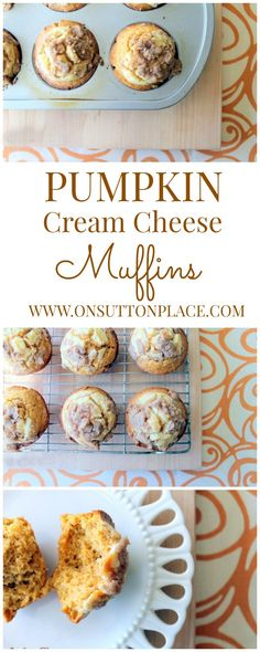Easy pumpkin muffins with cream cheese filling and amazing taste!
