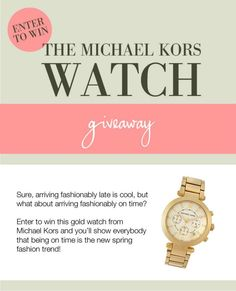 #Win Michael Kors Watch Giveaway - TheFashioniStyle