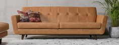 Our fan-favorite sofa combines a mid-century modern silhouette with custom fabric or leather for a handcrafted beauty.