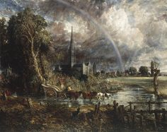 Salisbury Cathedral from the Meadows (1831) bought by Tate for £23.1 million / by John Constable)
