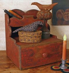 BTG-STB Wood Scalloped Box ... love the pin keeps that are with this wonderful box.