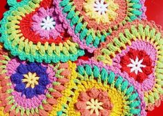cute crocheted hearts