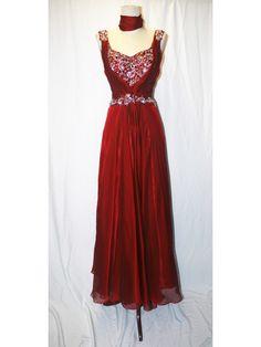 Cranberry or Navy Ballroom Dress