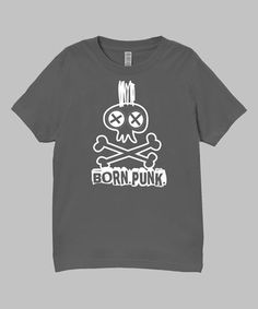 Charcoal 'Born Punk' Tee - Infant, Toddler & Boys by Micro Me #zulily #zulilyfinds