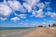 Cobourg beach in summertime, Ontario, Canada