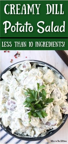 Creamy Dill Potato Salad Creamy Dill Potato Salad is a classic side dish for summer cookouts, potlucks and holiday dinners. With less than ingredients, you will love how easy this potato salad recipe is to make. Potato Salad Mayonnaise, Potato Salad Dill, Dill Potatoes, Potato Salad With Egg, Creamy Potato Salad, Roasted Potatoes, Homemade Potato Salads, Best Potato Salad Recipe, Easy Salad Recipes