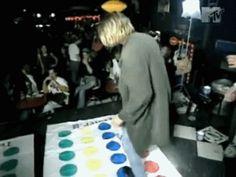 Kurt Cobain playing twister