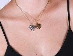 Four Leaf Clover Gold&Silver Plated NecklaceBest Friend by appax