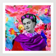 Collect your choice of gallery quality Giclée, or fine art prints custom trimmed by hand in a variety of sizes with a white border for framing. Frida Art, Welcome Mats, Canvas Prints, Art Prints, Abstract Watercolor, Metal Art, Wall Tapestry, Picnic Blanket, Vibrant Colors